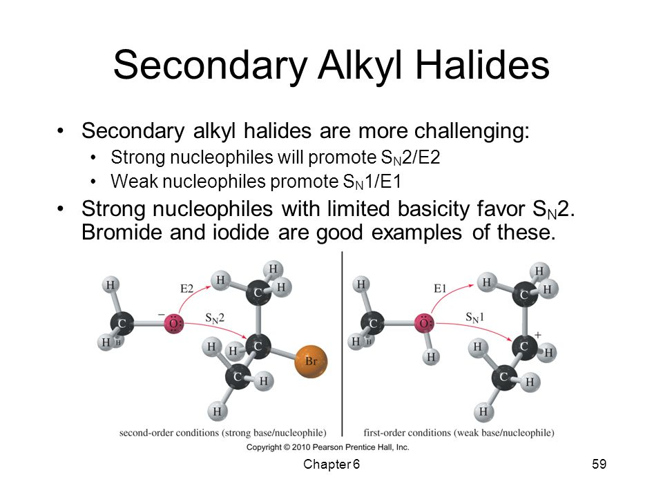 Secondary Alkyl Halides