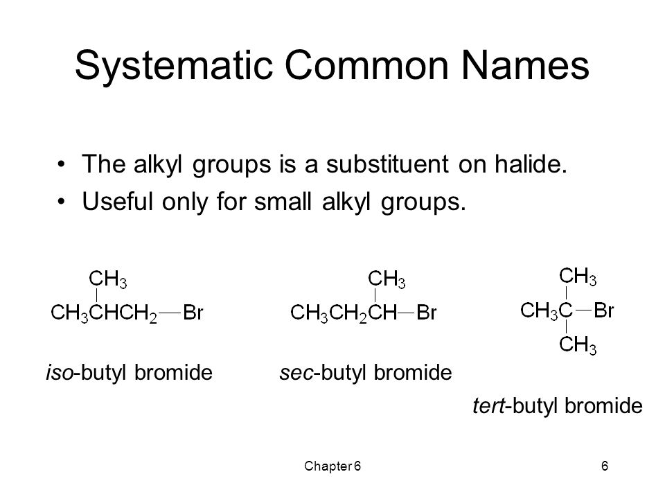 Systematic Common Names