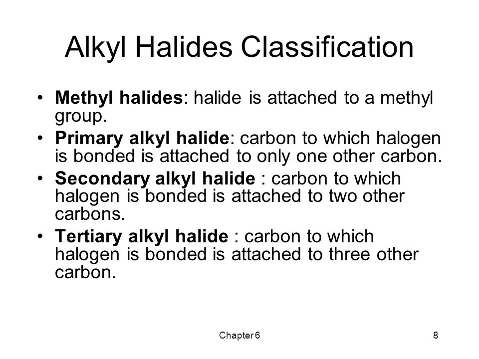 Alkyl Halides Classification