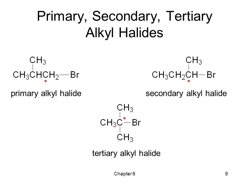 Primary, Secondary, Tertiary Alkyl Halides
