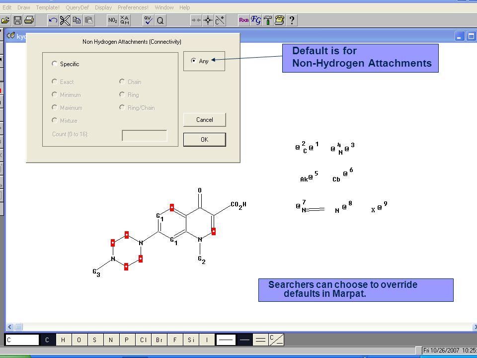 Non-Hydrogen Attachments