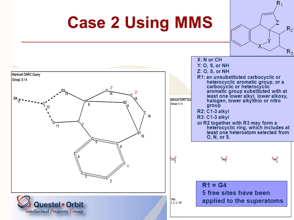 Case 2 Using MMS R1 = G4 5 free sites have been