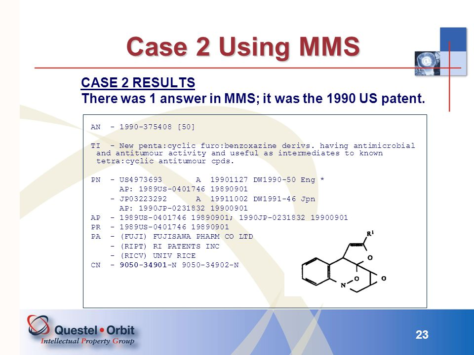 Case 2 Using MMS CASE 2 RESULTS