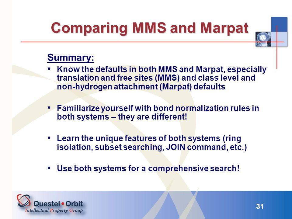Comparing MMS and Marpat