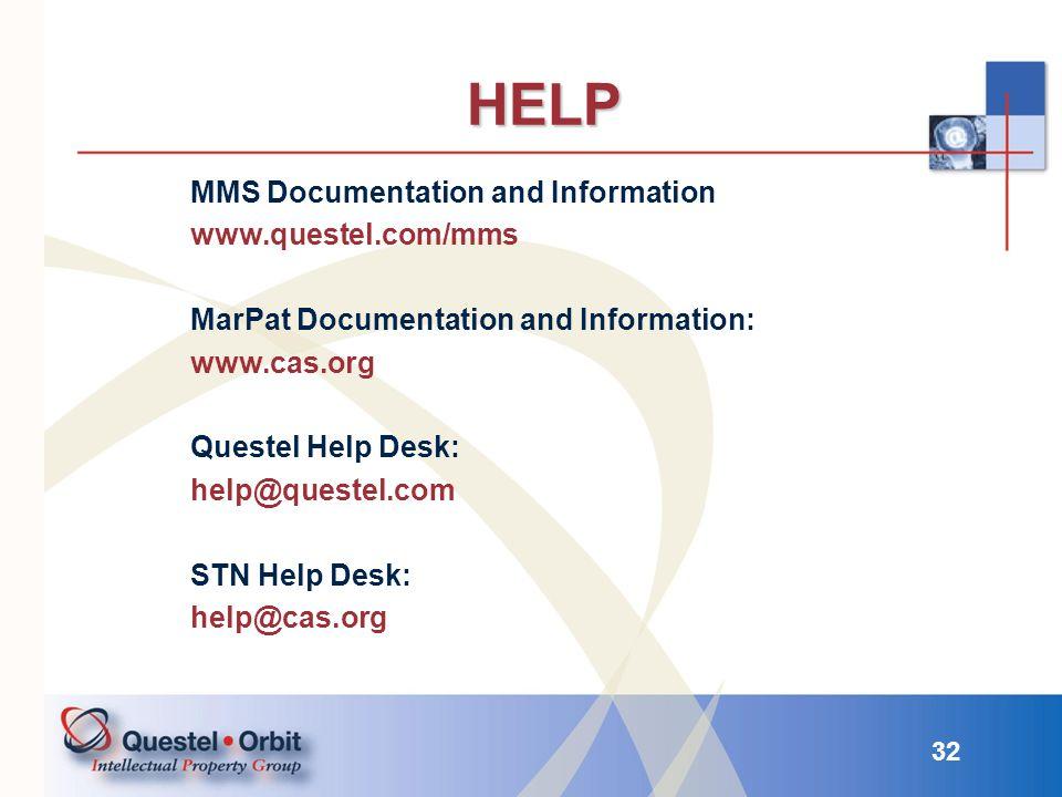 HELP MMS Documentation and Information www.questel.com/mms