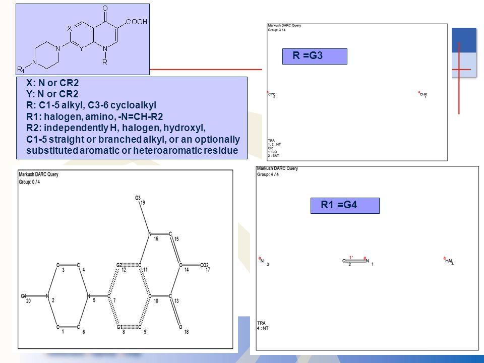 R =G3 R1 =G4 X: N or CR2 Y: N or CR2 R: C1-5 alkyl, C3-6 cycloalkyl