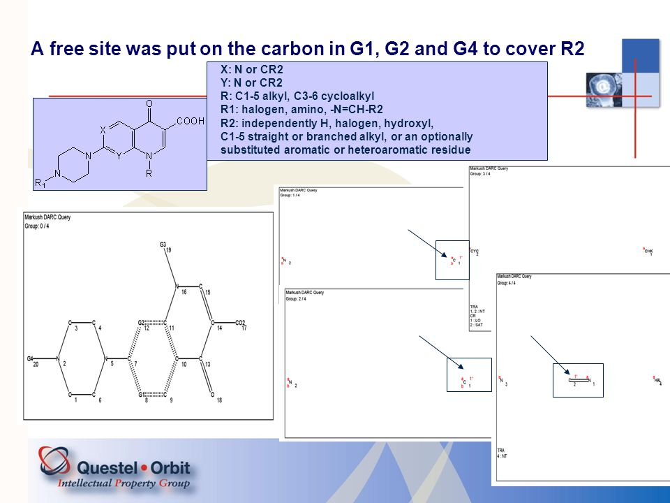 A free site was put on the carbon in G1, G2 and G4 to cover R2