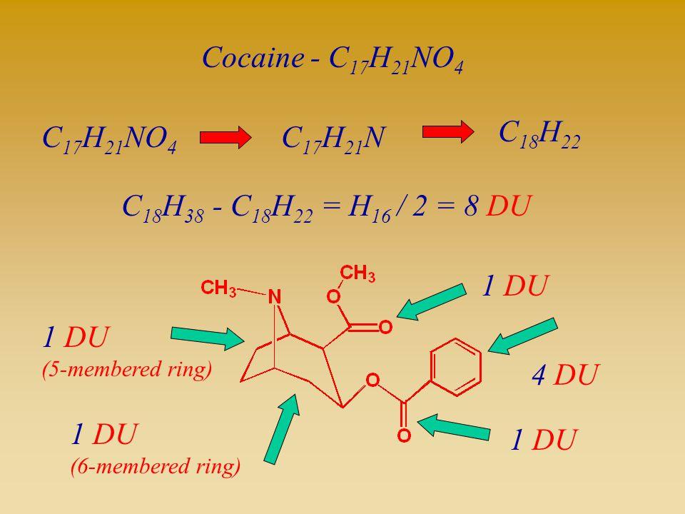 Cocaine - C17H21NO4 C18H22 C17H21NO4 C17H21N C18H38 - C18H22