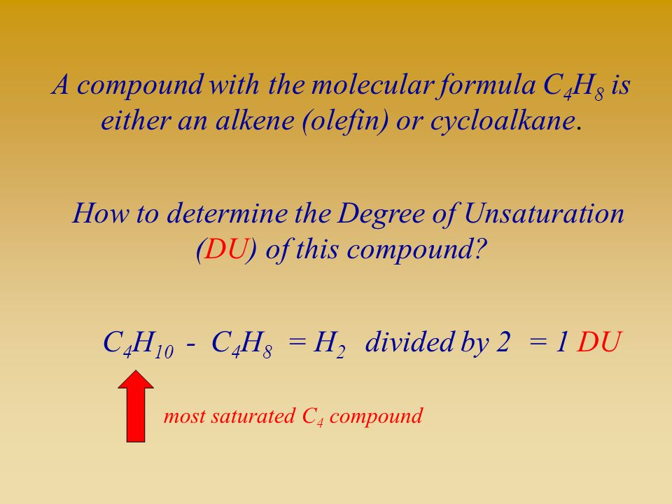 A compound with the molecular formula C4H8 is