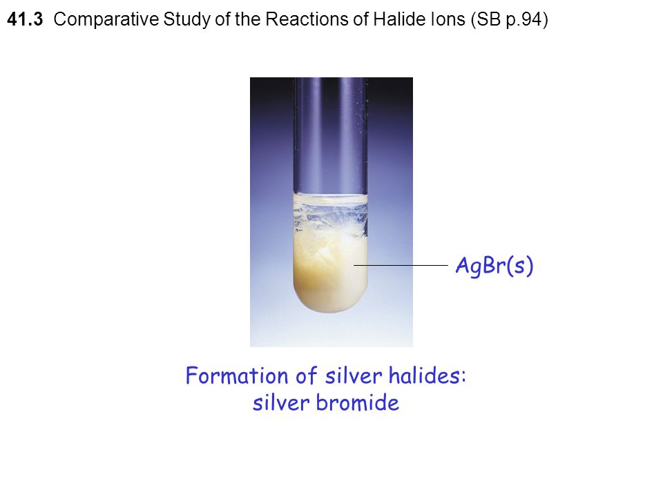 Formation of silver halides: silver bromide