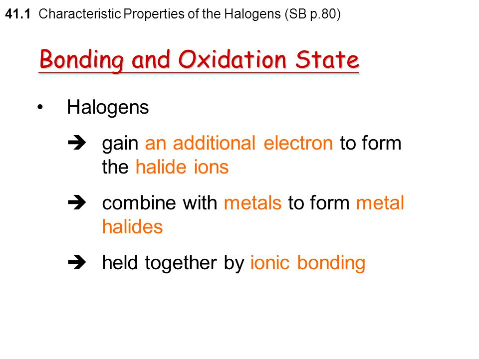 Bonding and Oxidation State