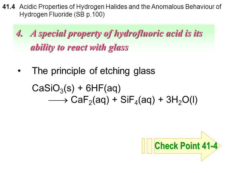 The principle of etching glass