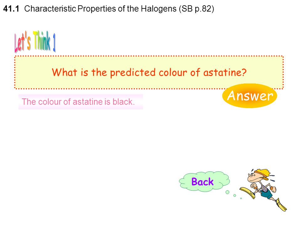 What is the predicted colour of astatine