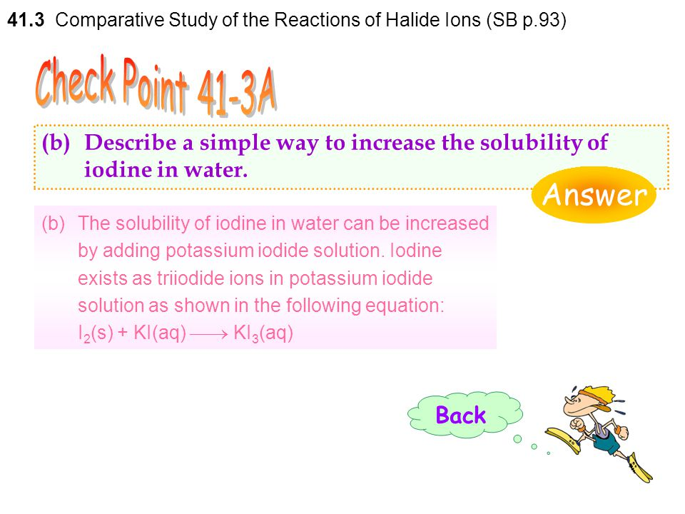 41.3 Comparative Study of the Reactions of Halide Ions (SB p.93)