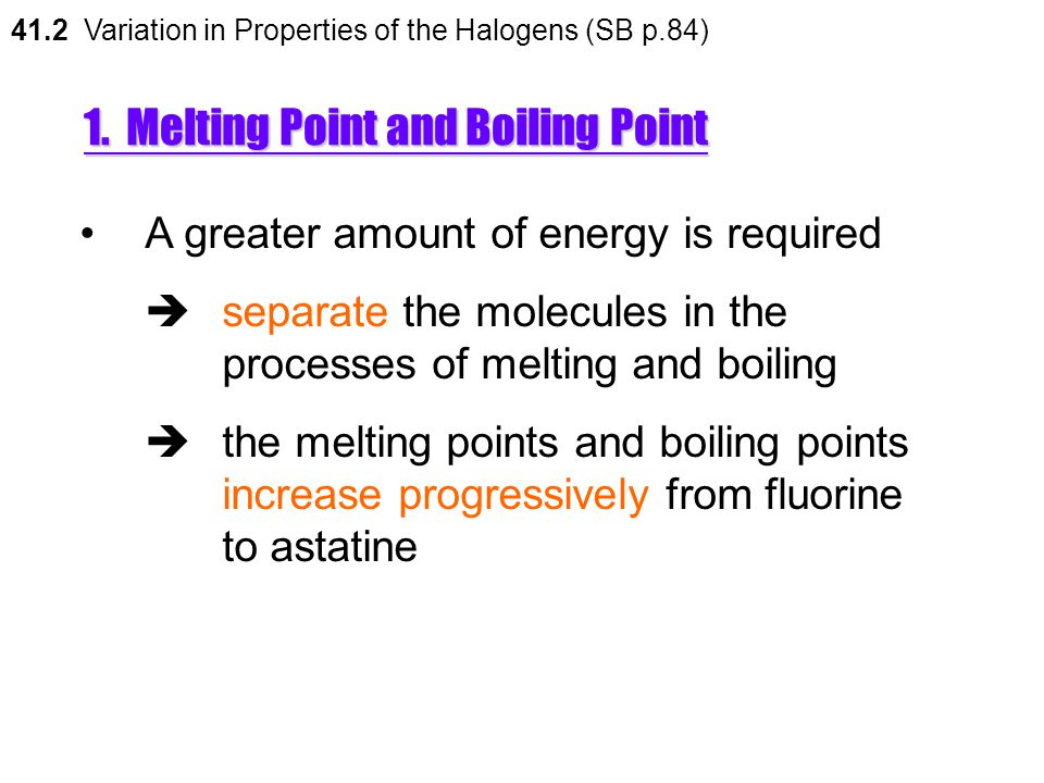 1. Melting Point and Boiling Point
