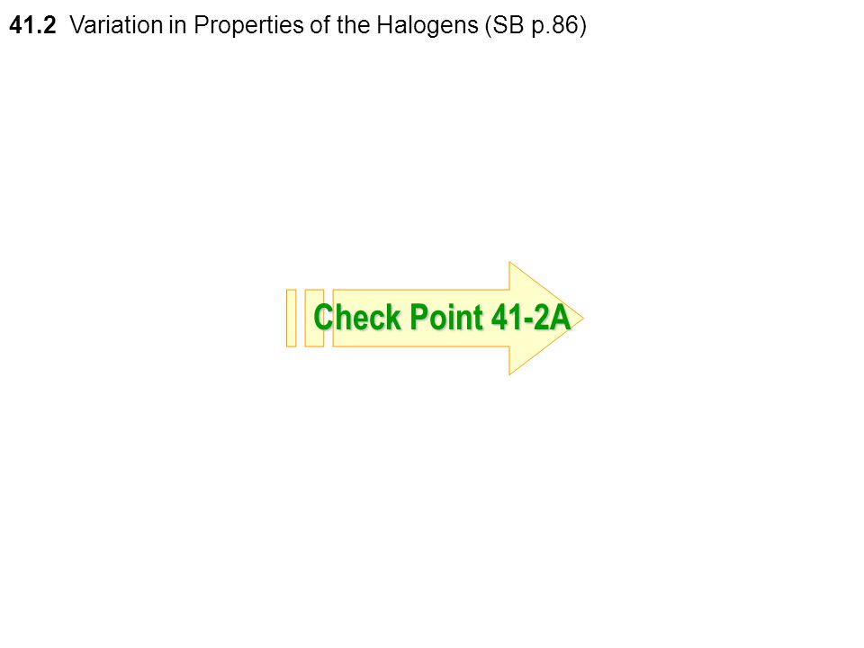 41.2 Variation in Properties of the Halogens (SB p.86)