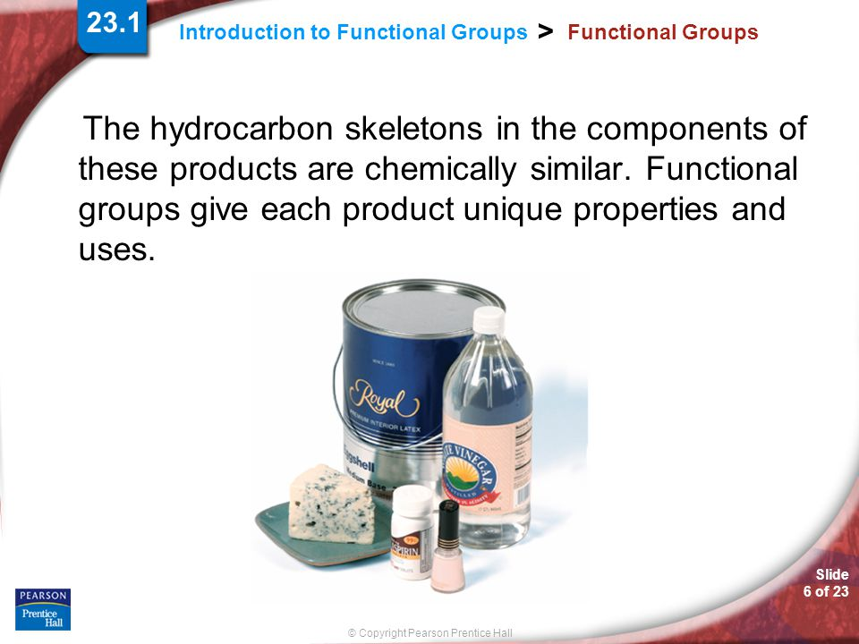 23.1 Functional Groups.