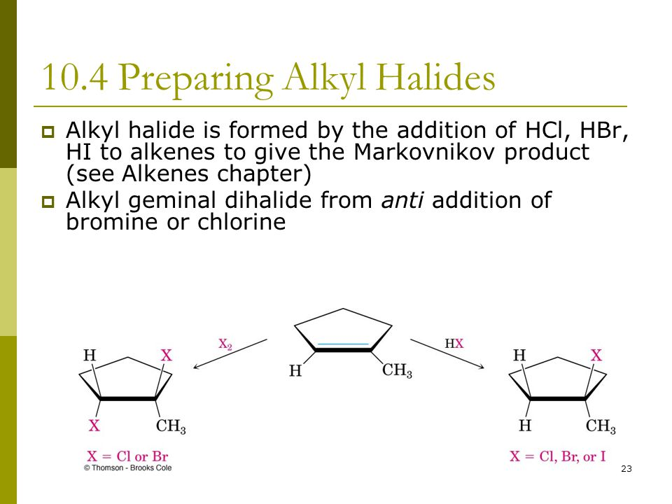10.4 Preparing Alkyl Halides