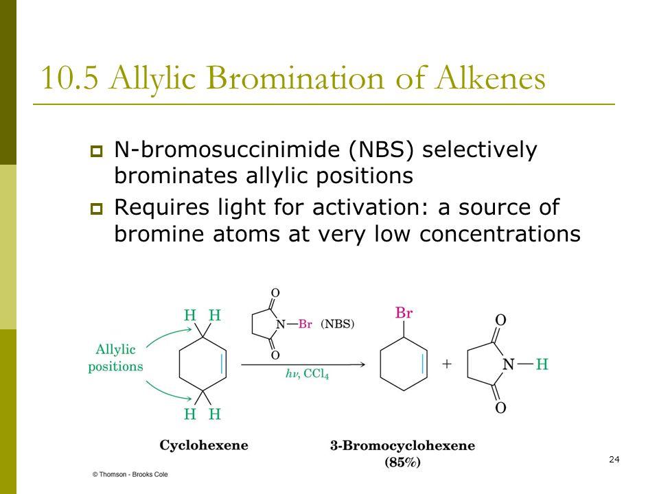 10.5 Allylic Bromination of Alkenes