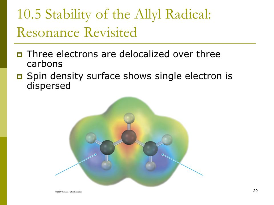 10.5 Stability of the Allyl Radical: Resonance Revisited
