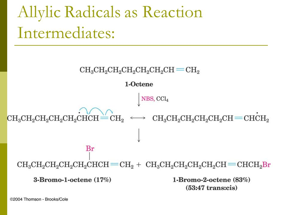 Allylic Radicals as Reaction Intermediates: