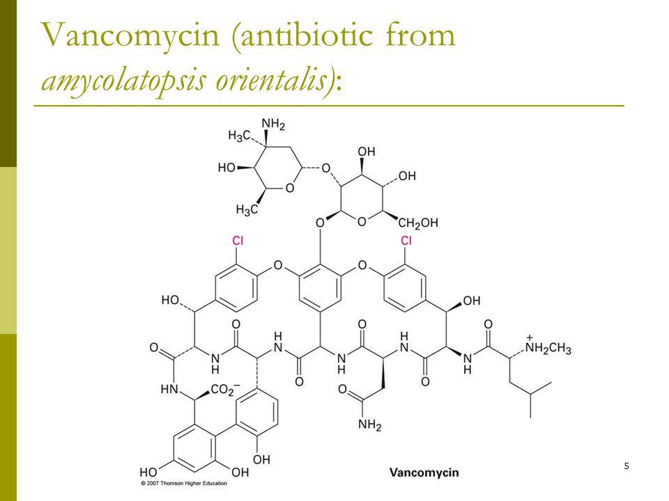 Vancomycin (antibiotic from amycolatopsis orientalis):