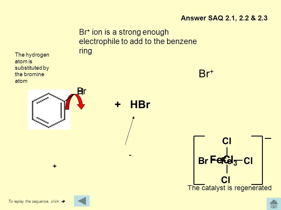 Br+ + HBr FeCl3 H Br Cl Br Fe Cl Cl