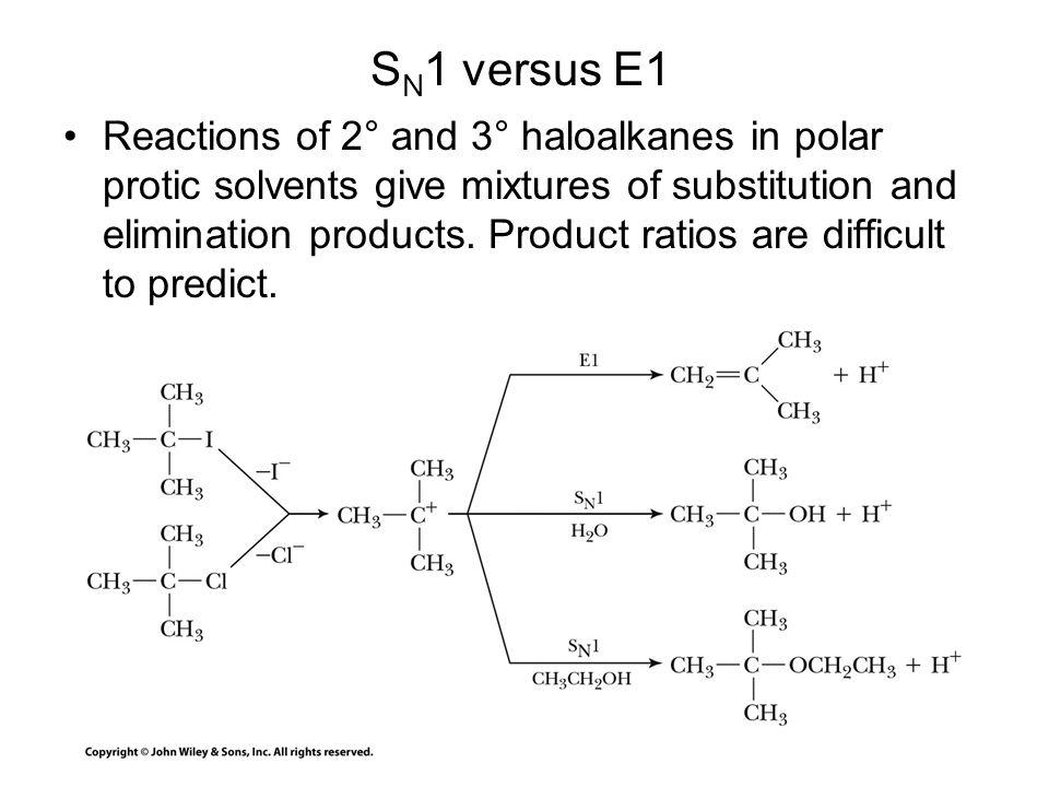 SN1 versus E1