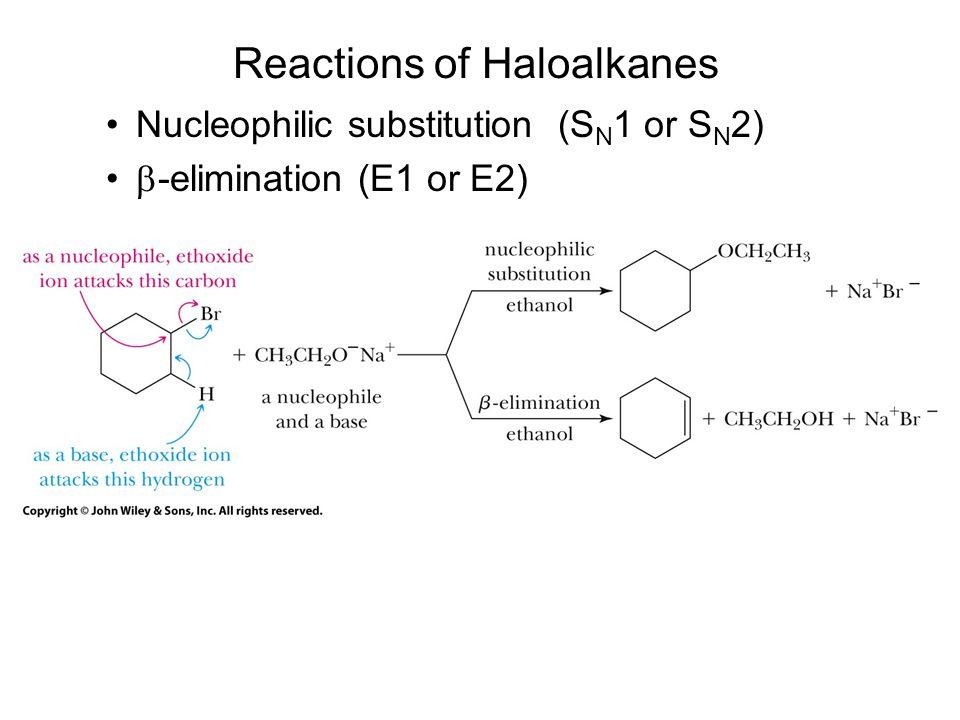 Reactions of Haloalkanes