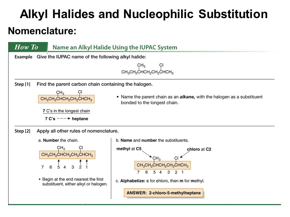 nucleophilic substitution of alkyl halides Chapter 23 aryl halides 231  aryl halides react more slowly than alkyl halides  we have not yet seen any nucleophilic substitution.