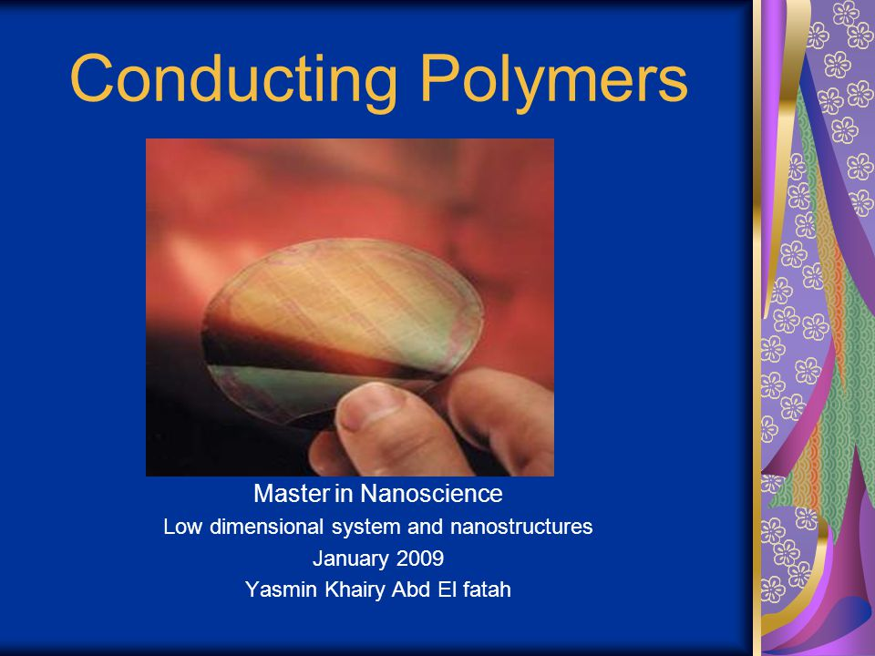 Conducting Polymers Master in Nanoscience