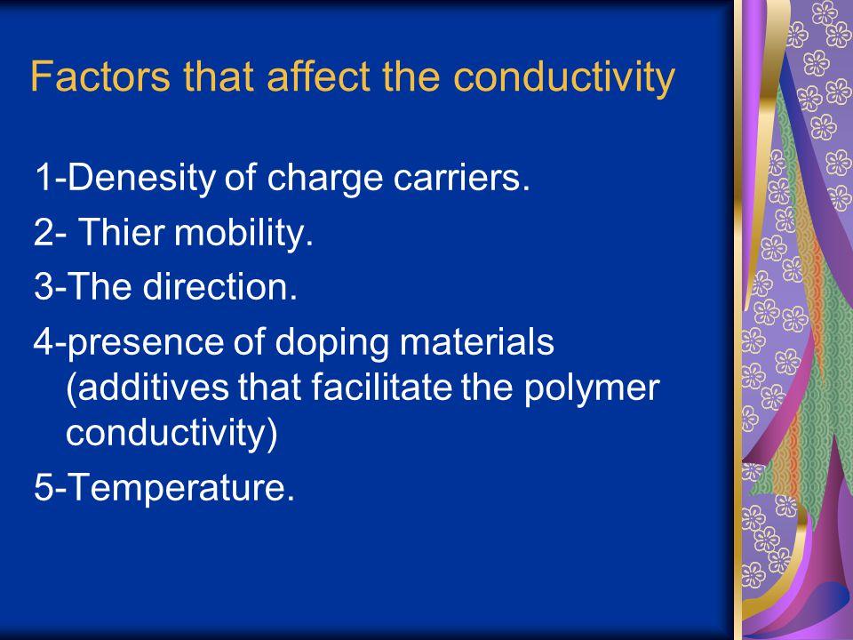Factors that affect the conductivity