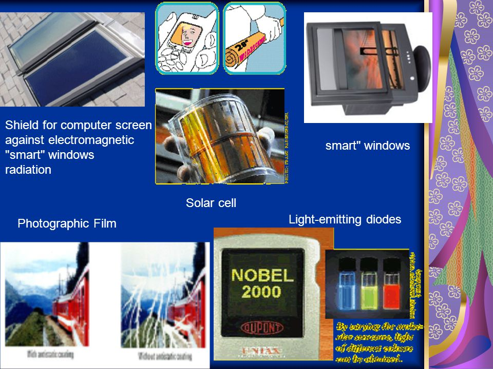 Solar cell Shield for computer screen. against electromagnetic. smart windows. radiation. smart windows.
