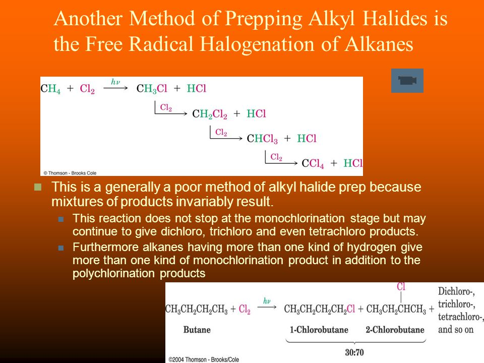 Another Method of Prepping Alkyl Halides is the Free Radical Halogenation of Alkanes