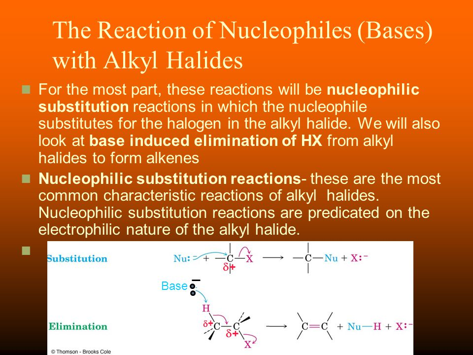 The Reaction of Nucleophiles (Bases) with Alkyl Halides