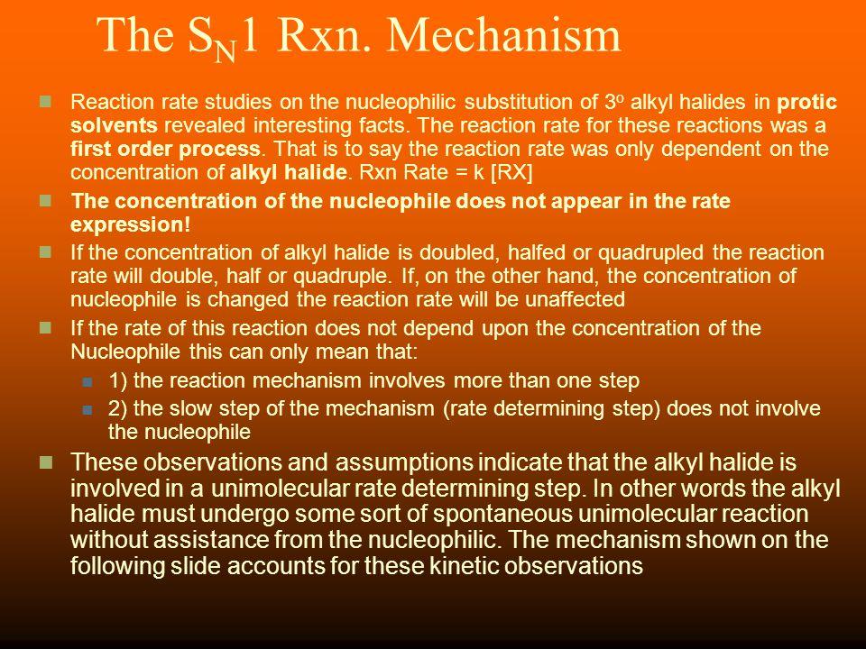 The SN1 Rxn. Mechanism