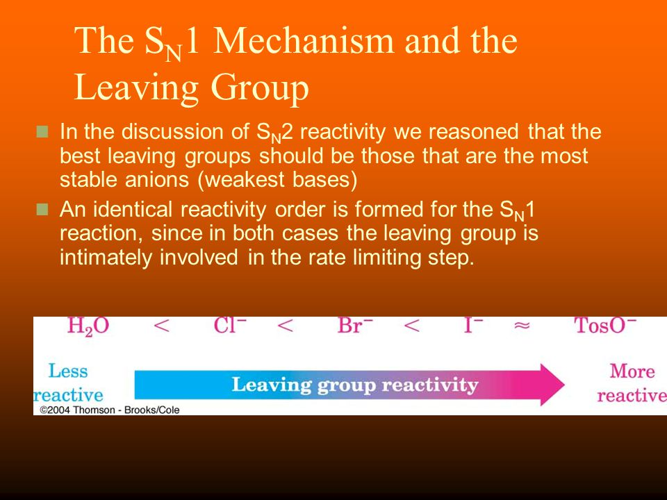 The SN1 Mechanism and the Leaving Group