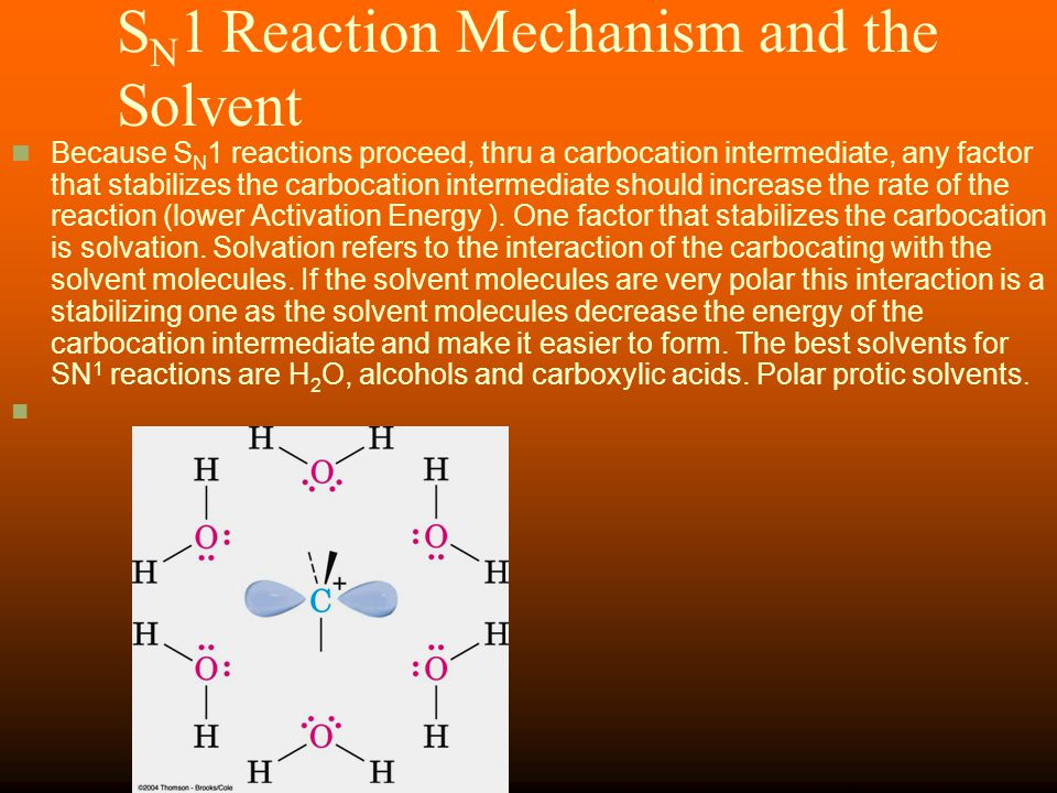 SN1 Reaction Mechanism and the Solvent