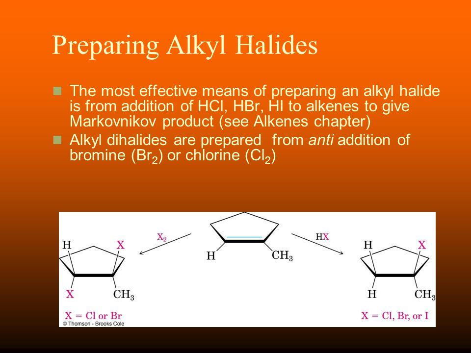 Preparing Alkyl Halides