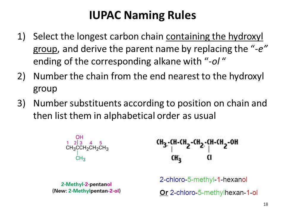 IUPAC Naming Rules