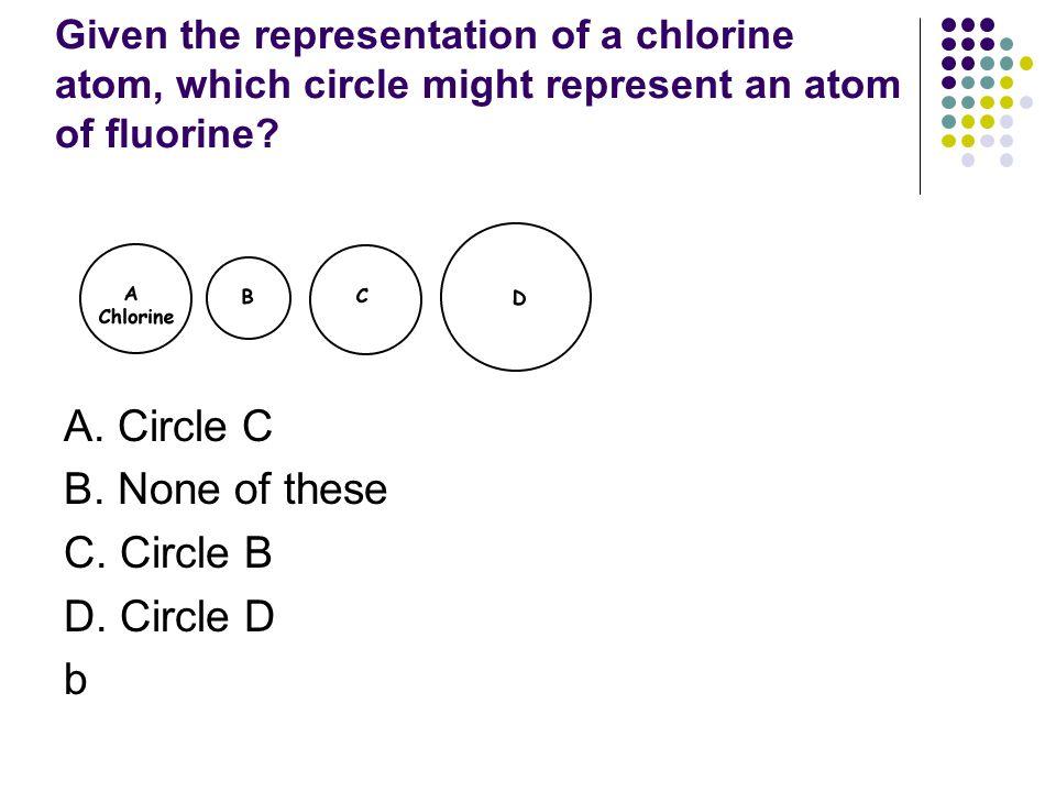 A. Circle C B. None of these C. Circle B D. Circle D b