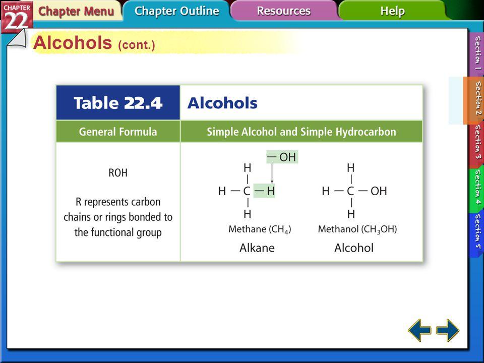 Alcohols (cont.) Section 22-2