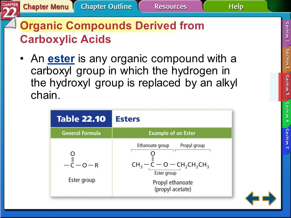 Organic Compounds Derived from Carboxylic Acids