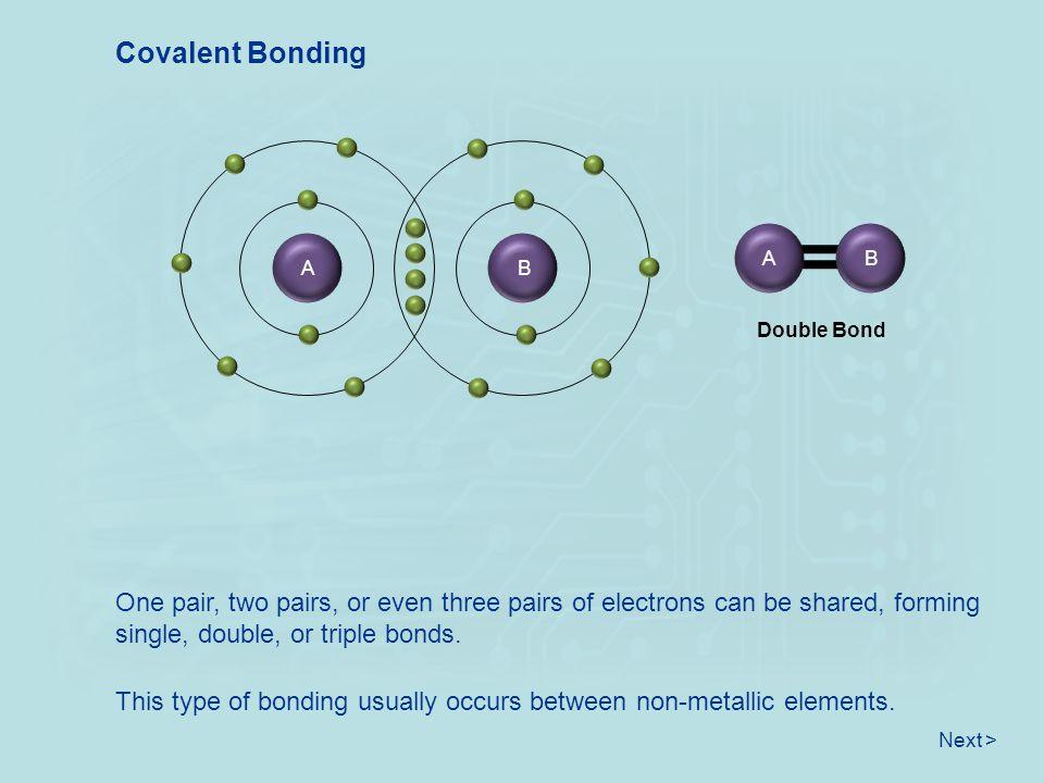 Covalent Bonding A. B. B. A. Double Bond.