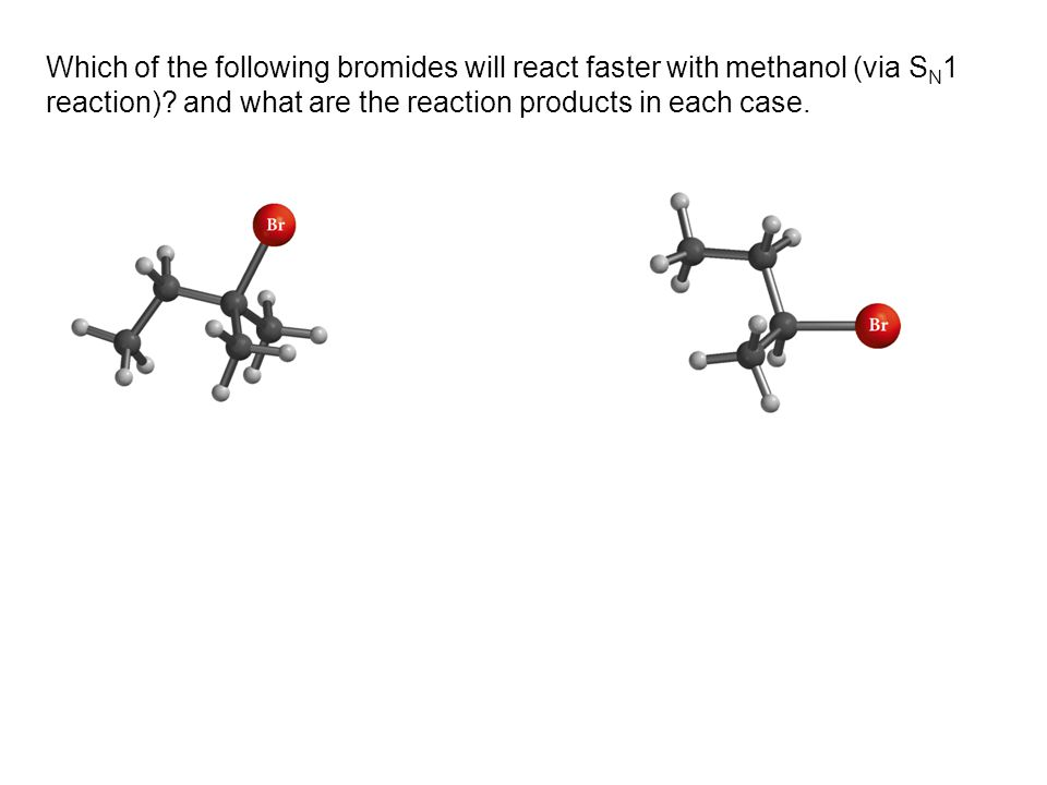 Which of the following bromides will react faster with methanol (via SN1 reaction).