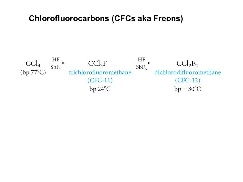 Chlorofluorocarbons (CFCs aka Freons)
