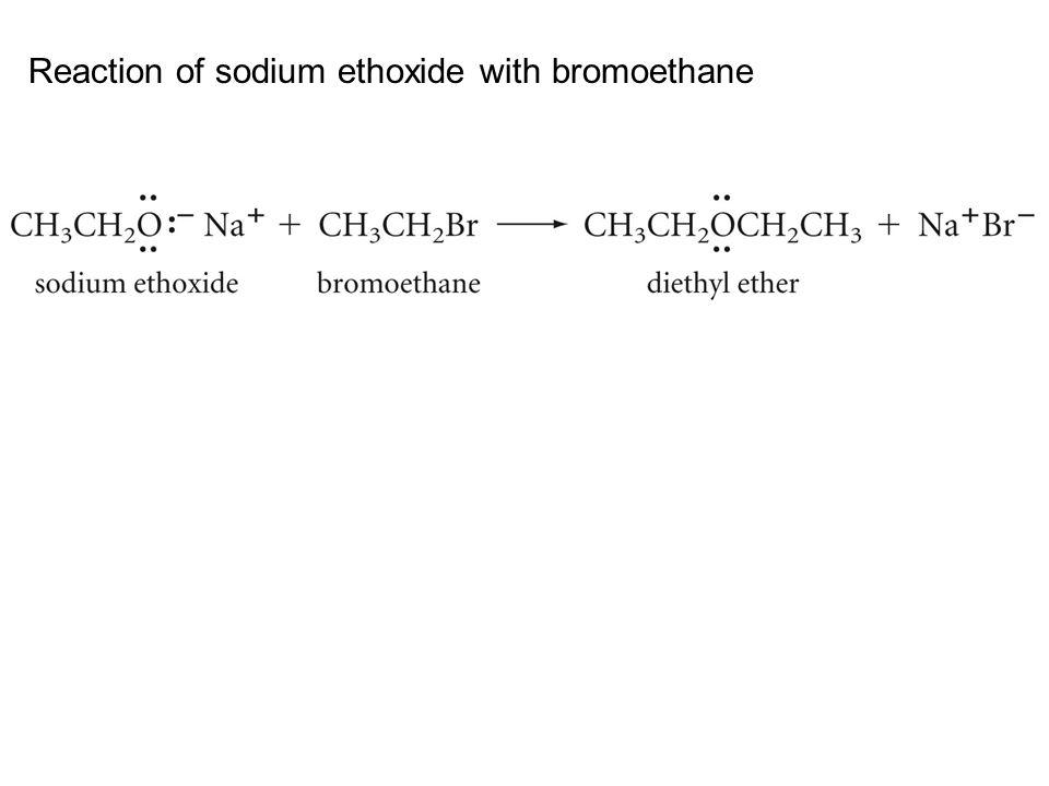 Reaction of sodium ethoxide with bromoethane