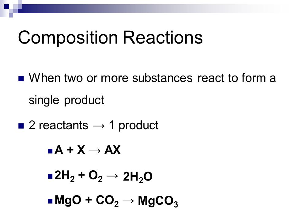Composition Reactions