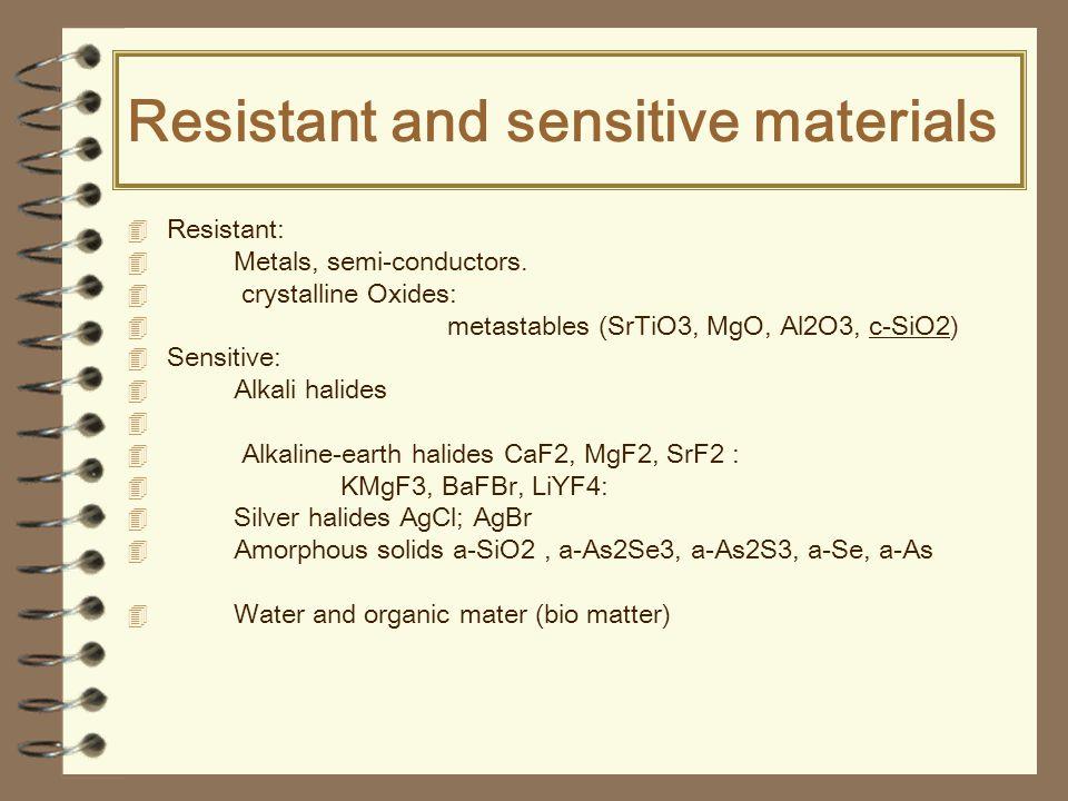 Resistant and sensitive materials