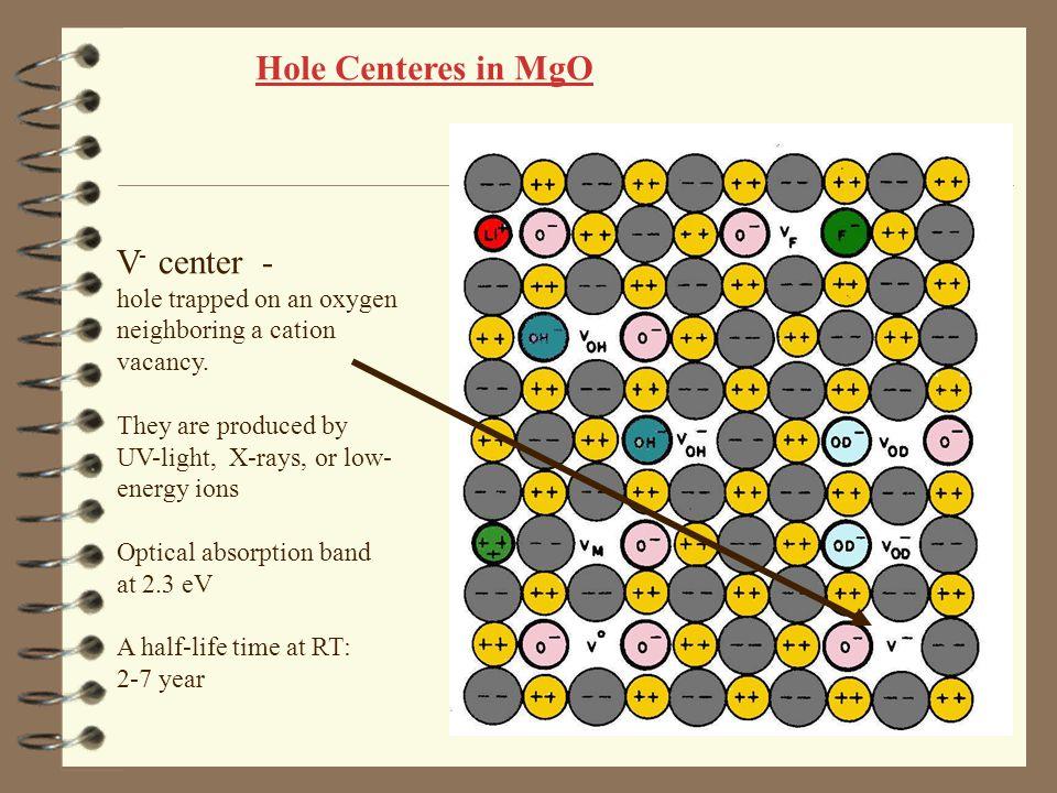 Hole Centeres in MgO V- center -